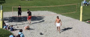 Beach volley in paese