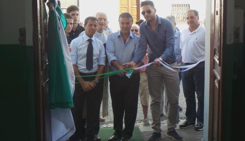 Inaugurazione Convitto: Vito, Rizzi, Taccone Jr