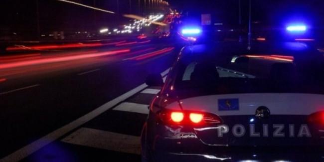 Polizia stradale notte
