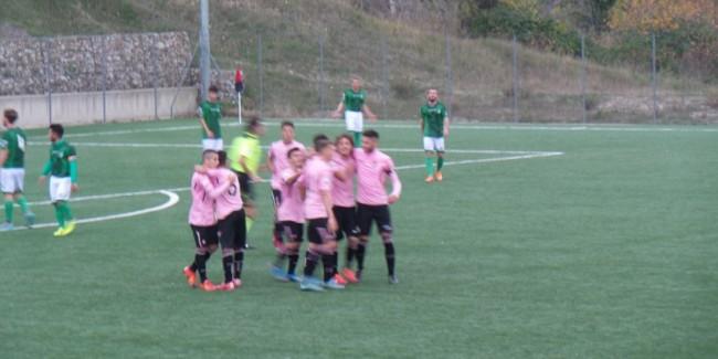 Il Palermo esulta dopo il vantaggio