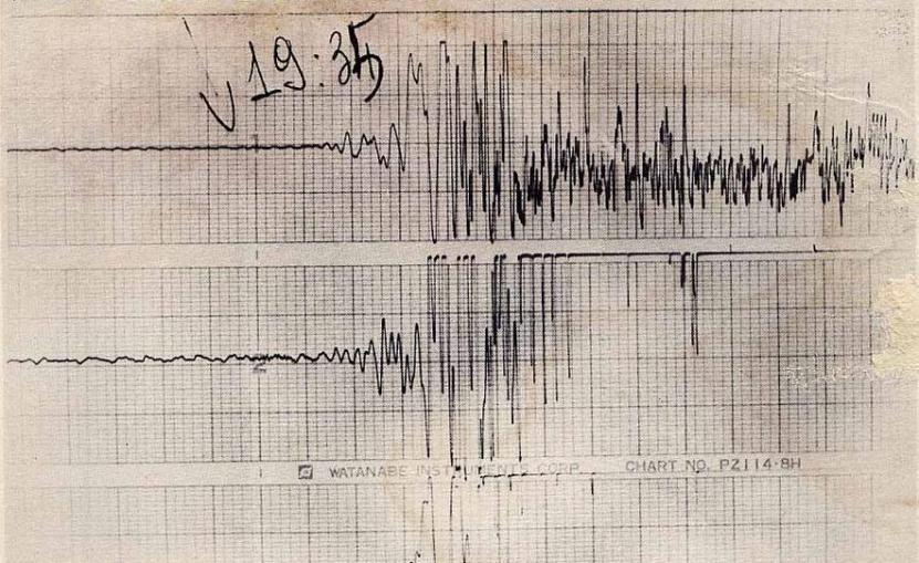 Il sismografo delle 19:34 del 23 novembre 1980