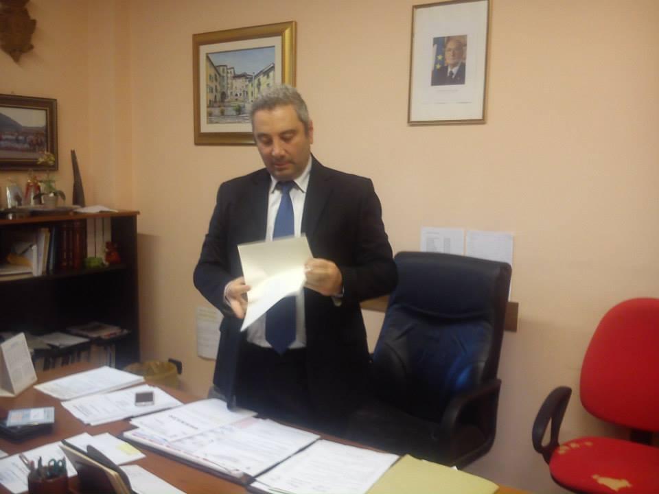 Il sindaco di Cusano Mutri, Giuseppe Maria Maturo