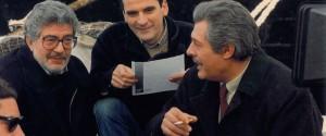 Ettore Scola con Massimo Troisi e Marcello Mastroianni