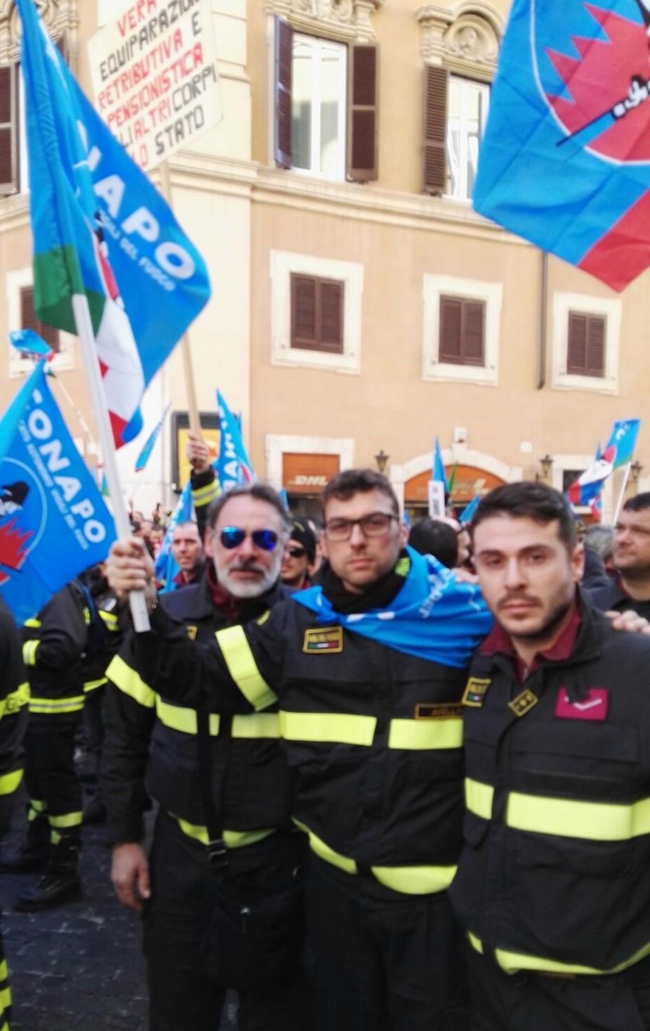 Vigili del fuoco protesta Roma 3