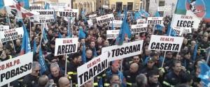 Vigili del fuoco protesta Roma