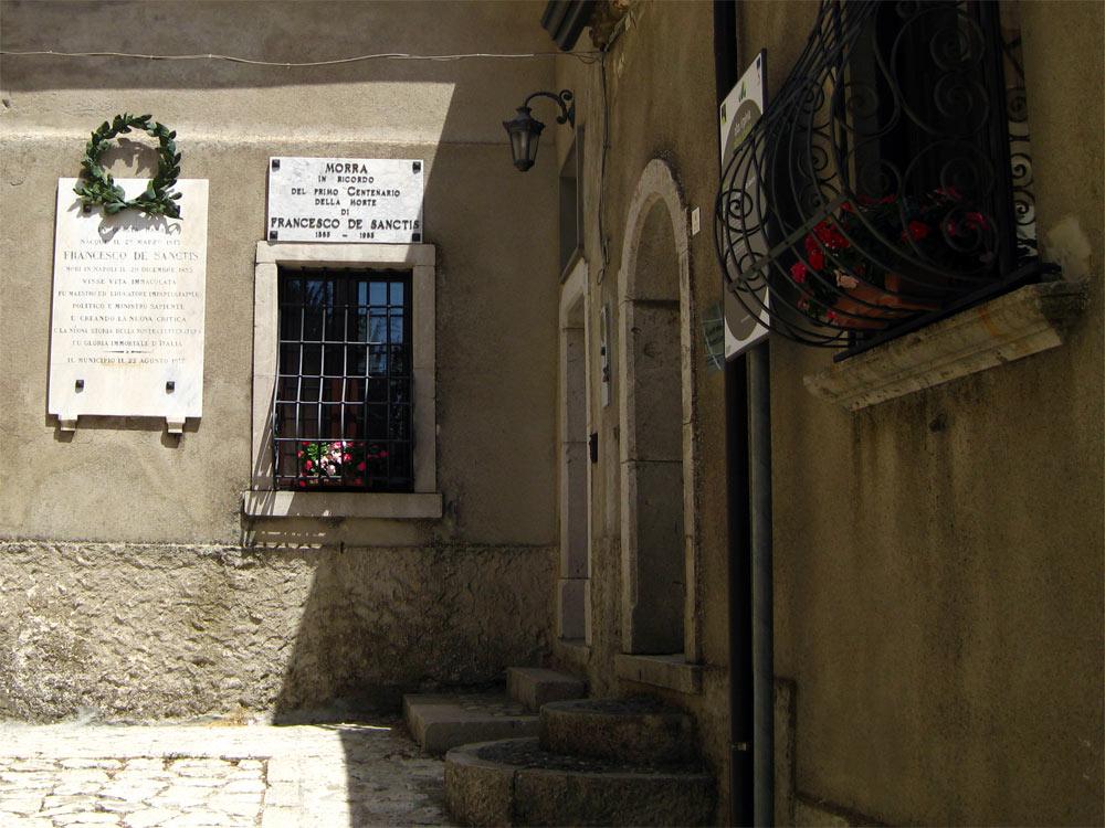 La casa natale del De Sanctis, a Morra
