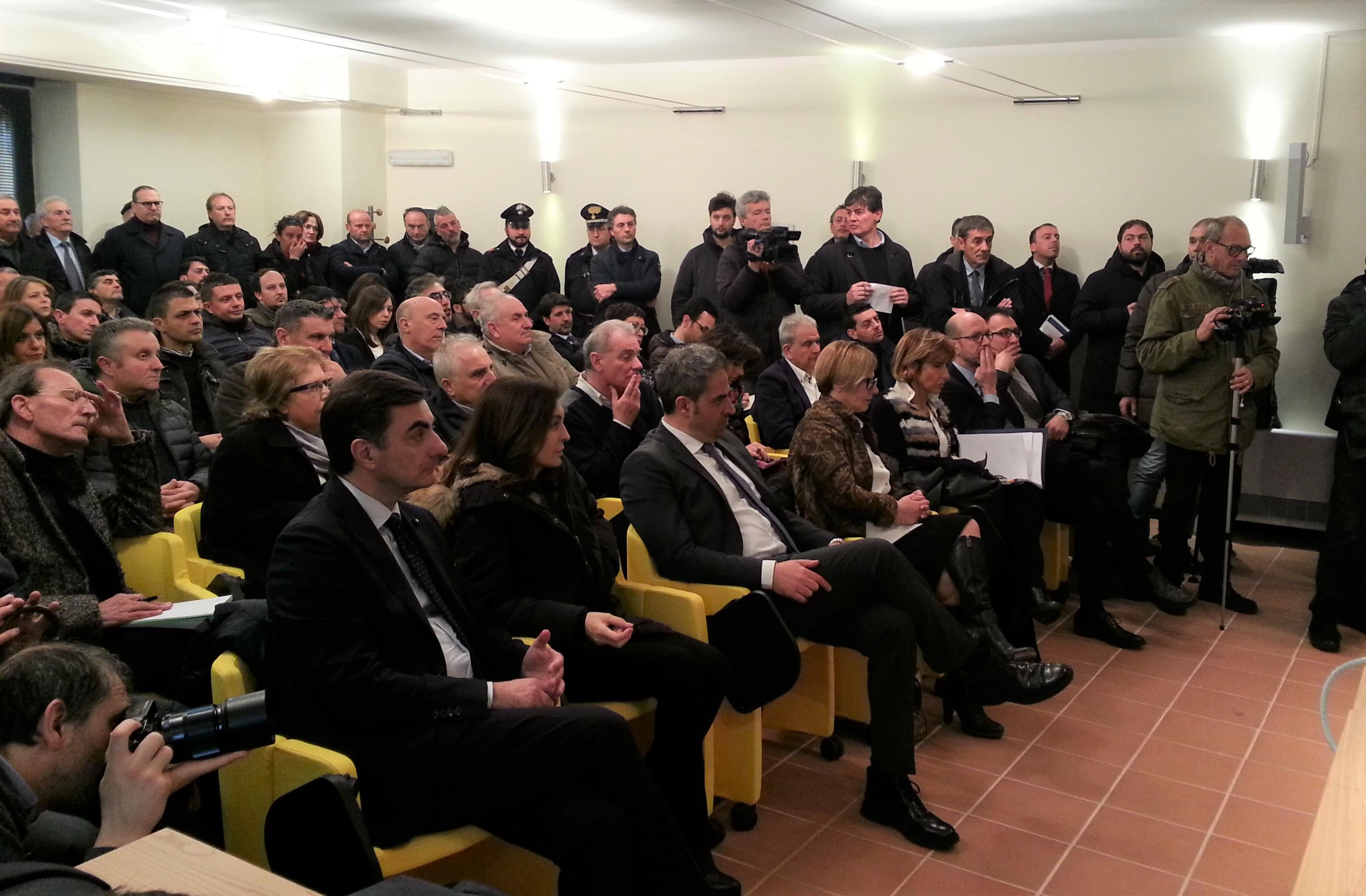 La prima fila del pubblico