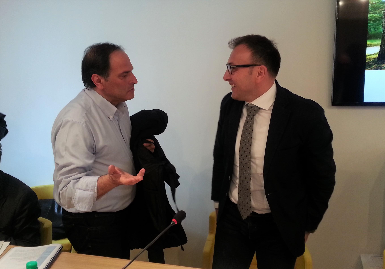Michele DI Maio, sindaco di Calitri, con Domenico Liotto