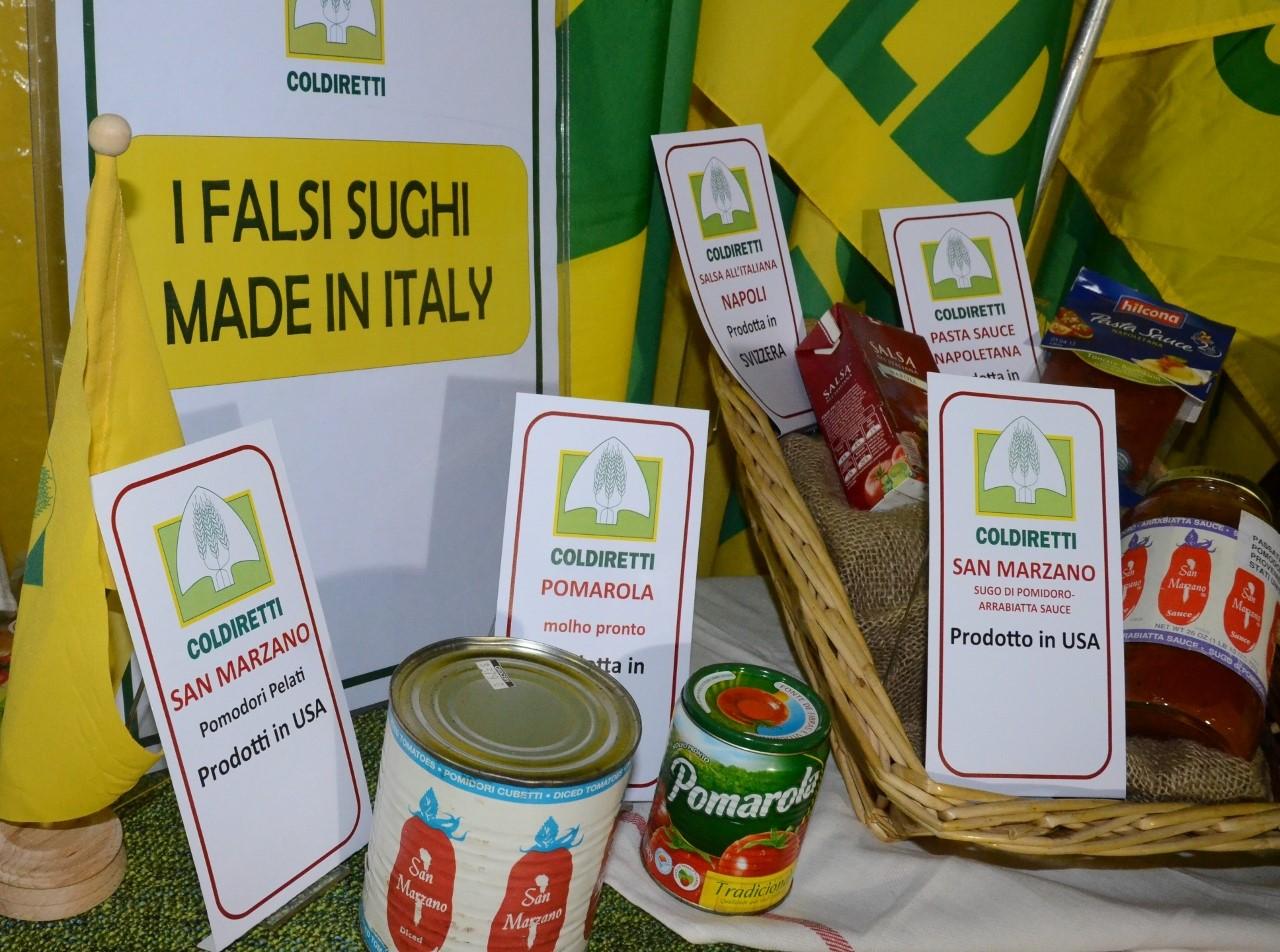 Sughi prodotti negli Usa e spacciati per italiani