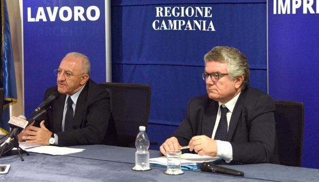 Vincenzo De Luca e Amedeo Lepore (foto: Massimo Pica)