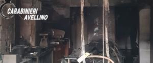 Vallata macelleria in fiamme