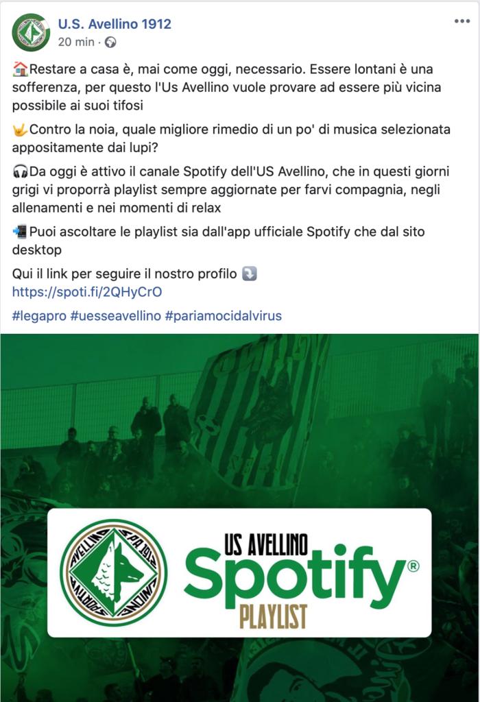 Avellino, Spotify