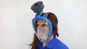 maschera da sub decathlon respiratore